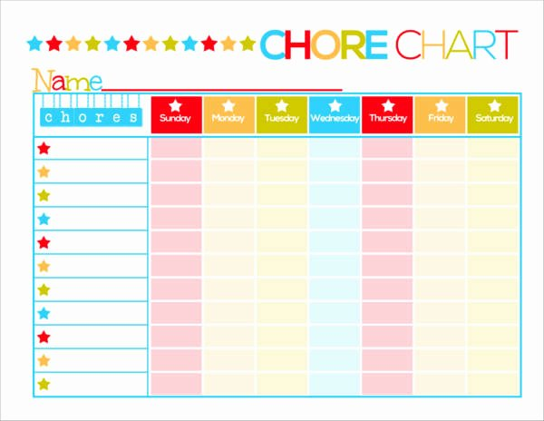 Daily Schedule Template for Kids Fresh Free 9 Kid S Chore Schedule Templates In Pdf