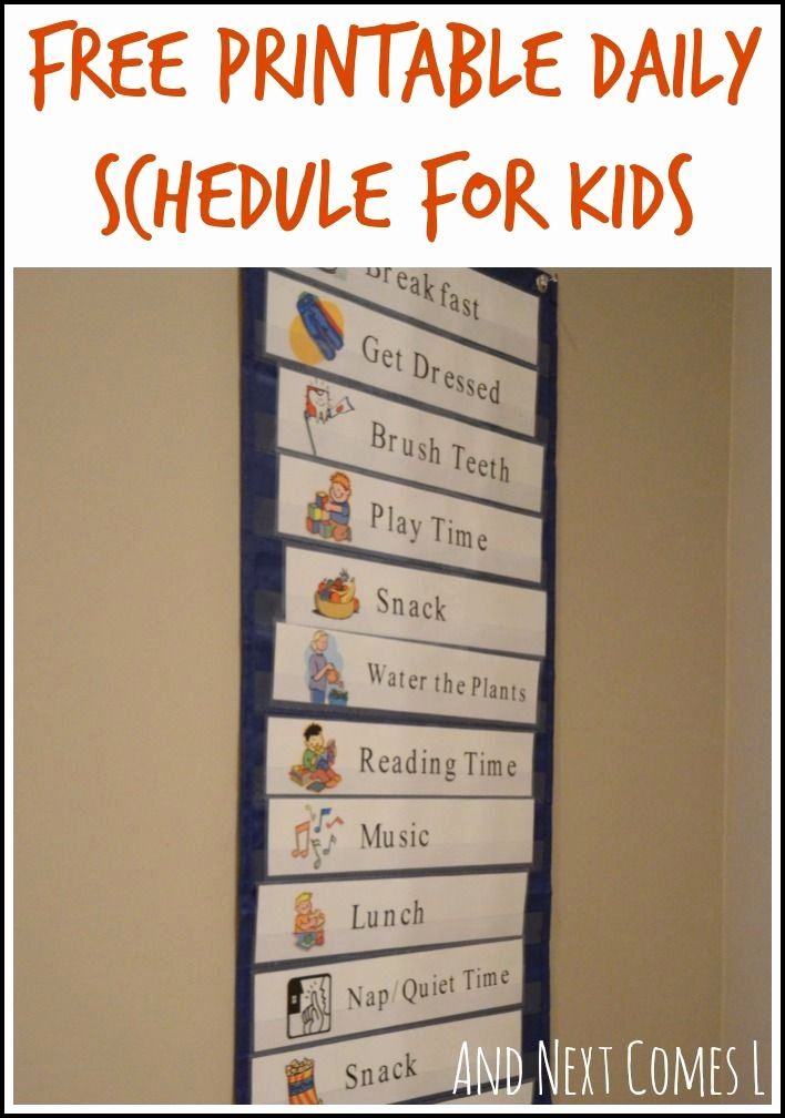 Daily Schedule Template for Kids Fresh Free Printable Daily Visual Schedule