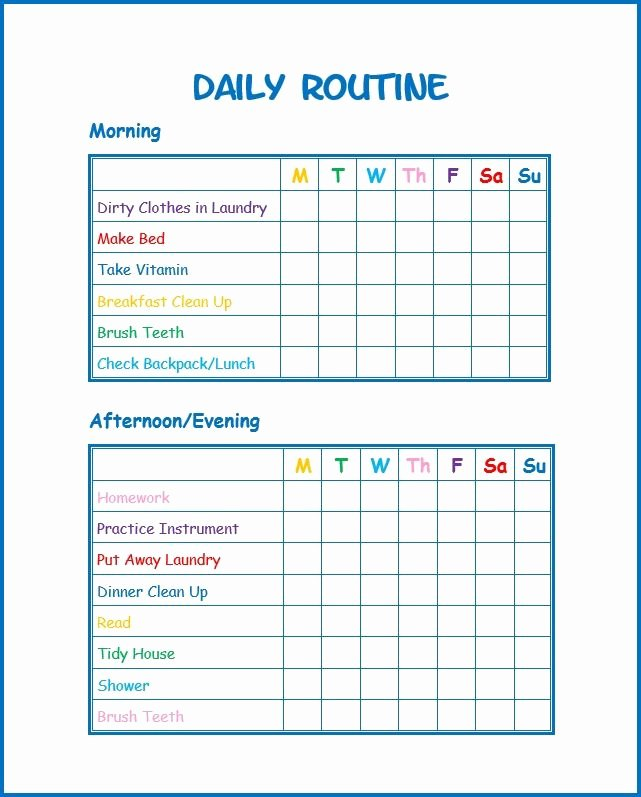 Daily Schedule Template for Kids Inspirational Pin On Wondermom Wannabe