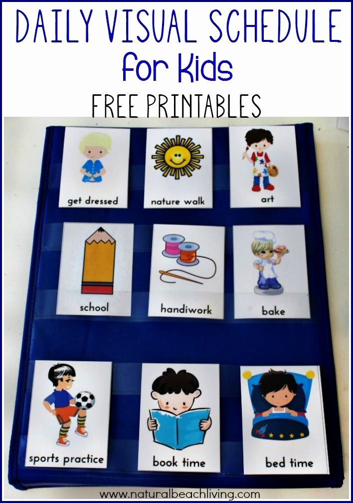 Daily Schedule Template for Kids Lovely Daily Visual Schedule for Kids Free Printable