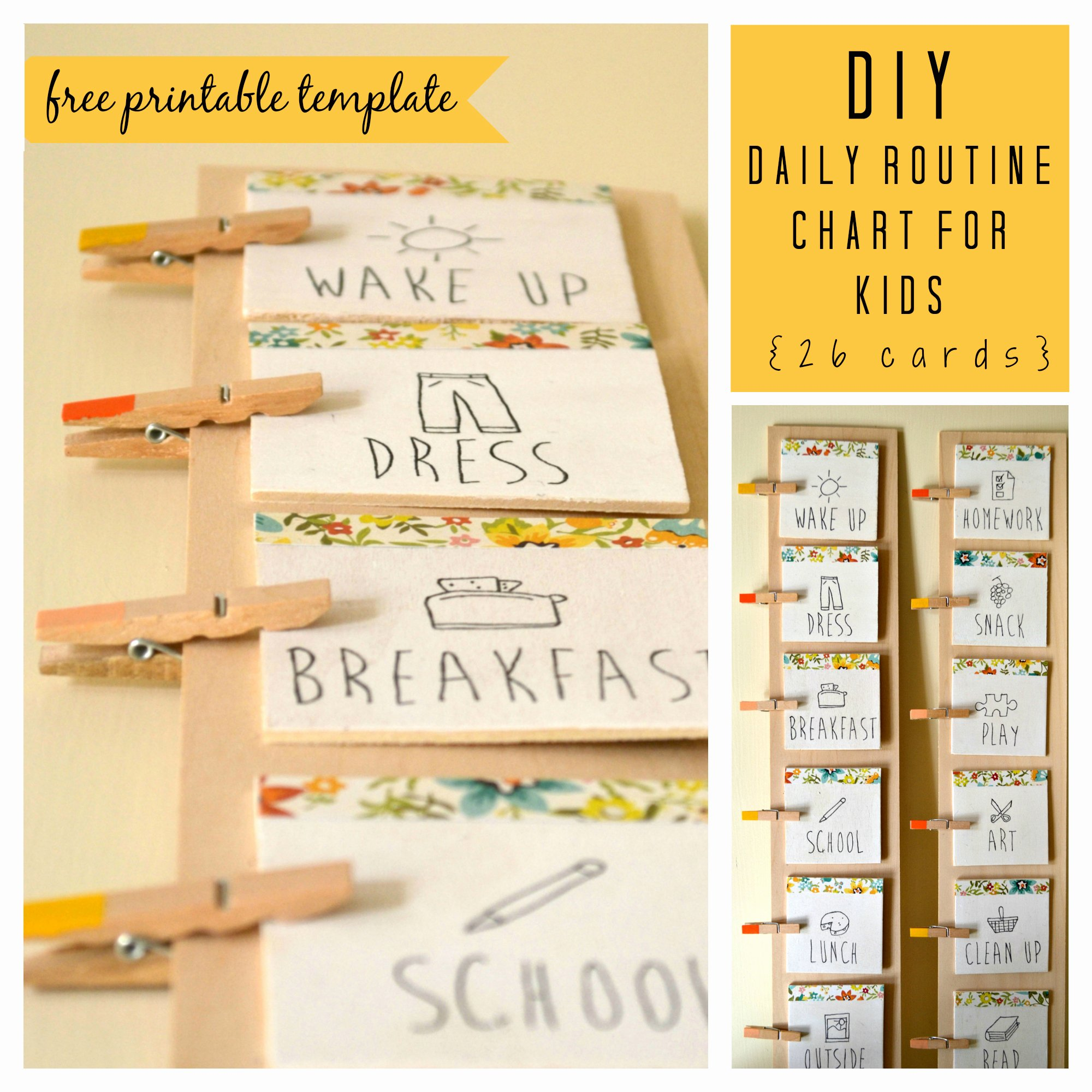 Daily Schedule Template for Kids Lovely Diy Daily Routine Chart for Kids