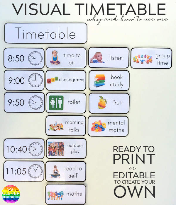 Daily Schedule Template for Kids Lovely why and How to Use A Visual Timetable Effectively