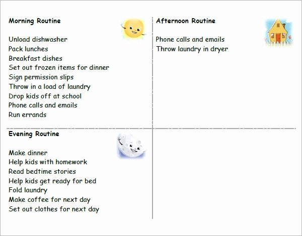 Daily Schedule Template for Kids Luxury Free 24 Printable Daily Schedule Templates In Pdf