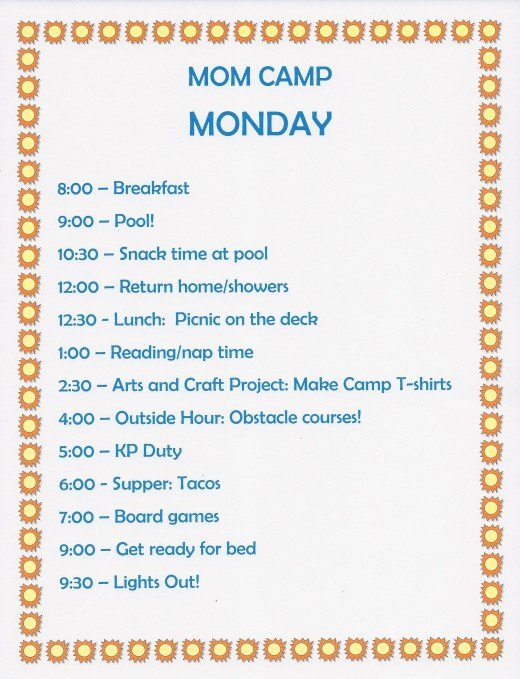 Daily Schedule Template for Kids Luxury Summer Fun Ideas Mom Camp Schedule for Kids