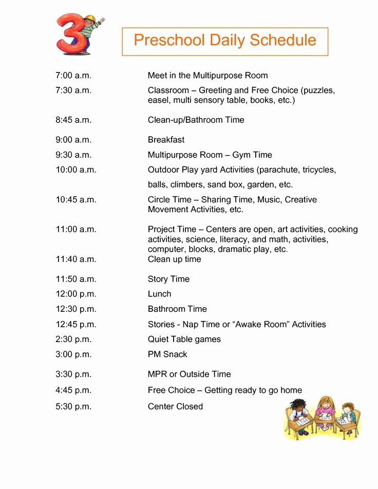 Daily Schedule Template for Kids Luxury the 25 Best Daily Schedule Kids Ideas On Pinterest