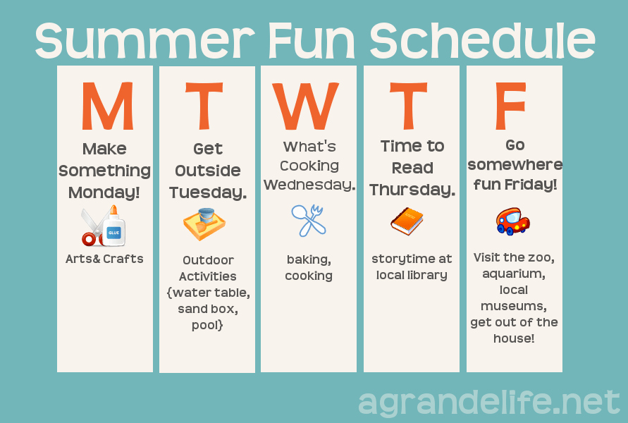 Daily Schedule Template for Kids Unique Summer Schedule for Kids
