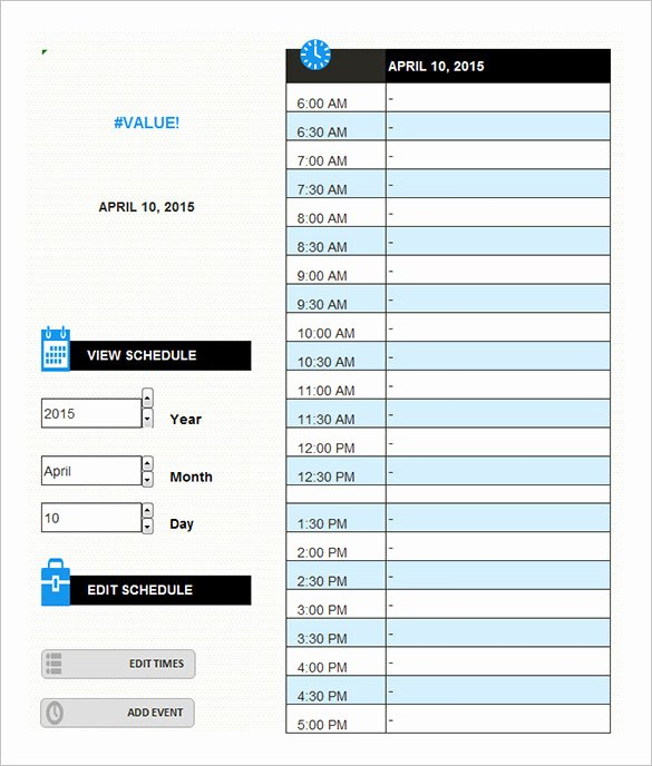 Daily Schedule Template Pdf New 9 Daily Schedule Templates Doc Pdf
