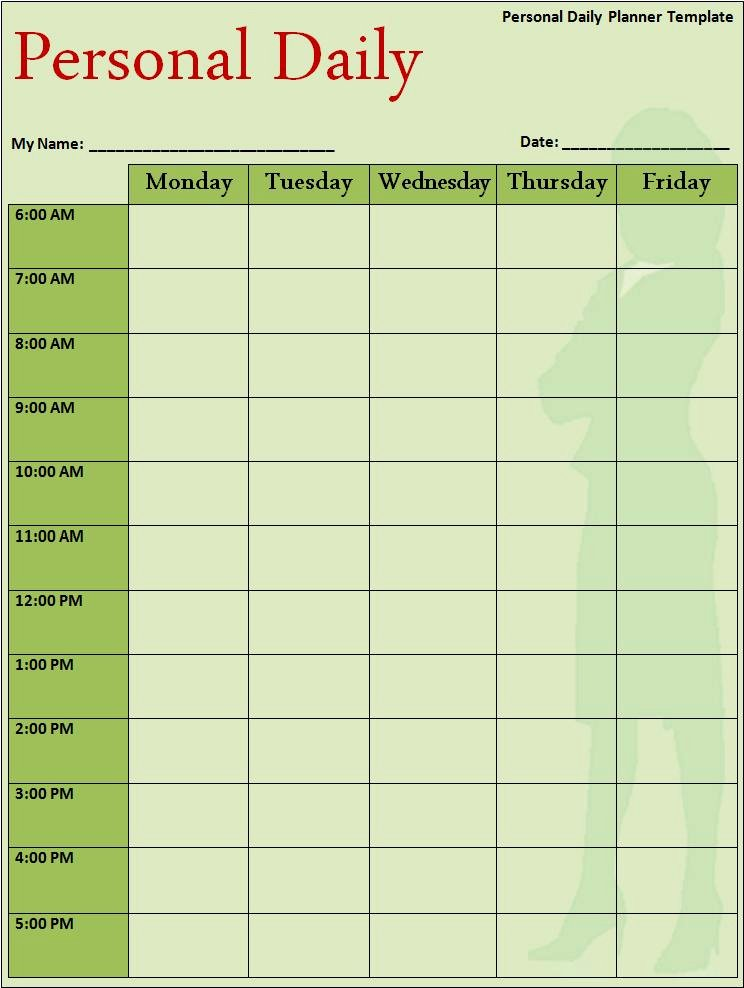 Daily Schedule Template Pdf Unique Daily Schedule Template Word