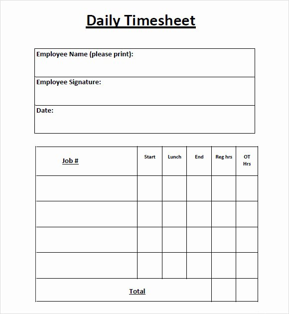 Daily Time Log Template Awesome Free 10 Sample Daily Timesheet Templates In Google Docs
