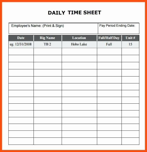Daily Timesheet Excel Template Beautiful 8 Sample Payroll Timesheets – Timesheet