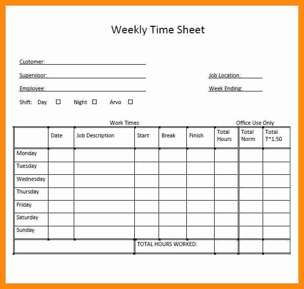 Daily Timesheet Excel Template Best Of Daily Timesheet Template