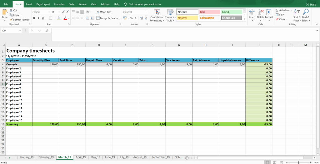Daily Timesheet Excel Template Inspirational Monthly and Weekly Timesheets Free Excel Timesheet