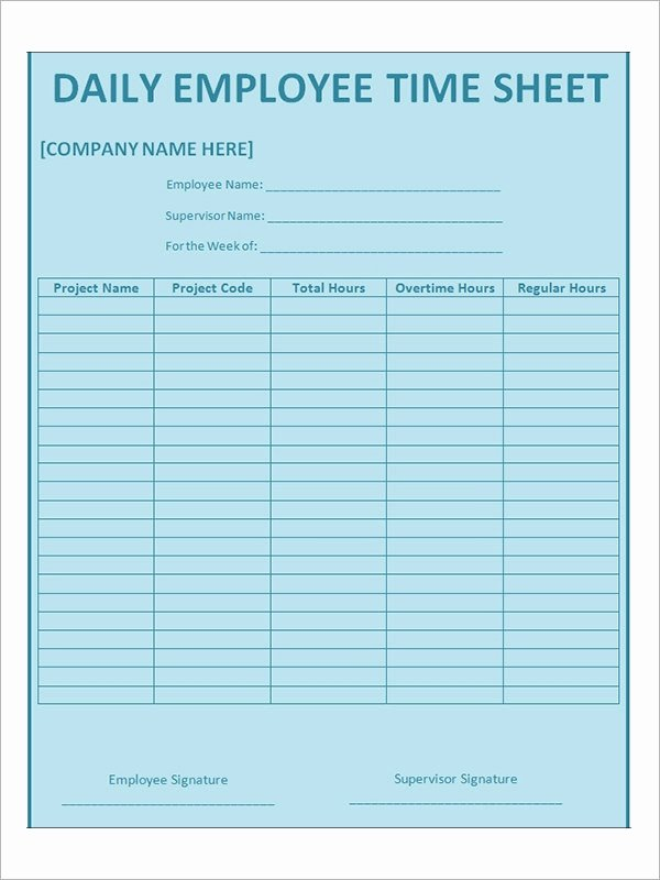 Daily Timesheet Excel Template Lovely Time Sheet Calculator Templates 15 Download Free
