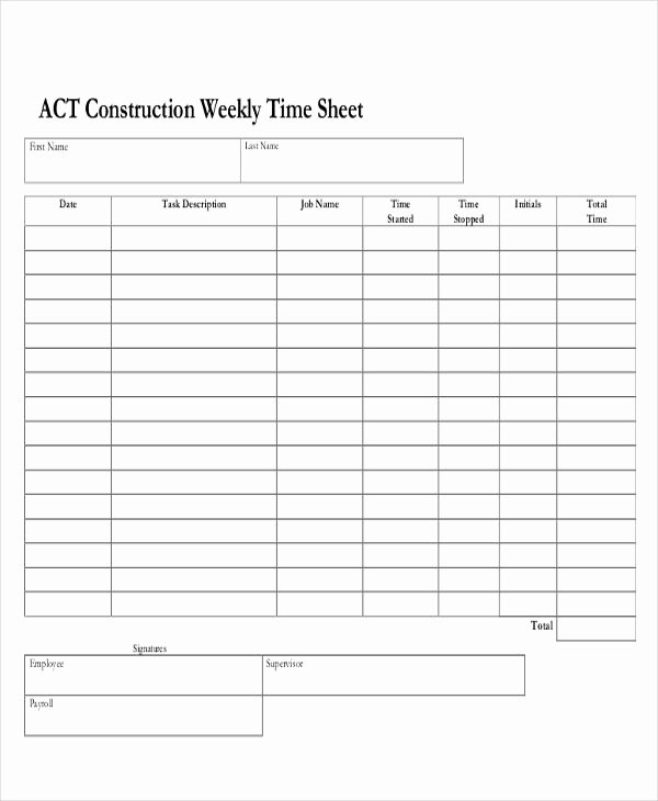 Daily Timesheet Template Free Printable Awesome 30 Printable Timesheet Templates Word Pdf
