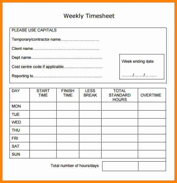 Daily Timesheet Template Free Printable Lovely 5 Payroll Time Sheets forms