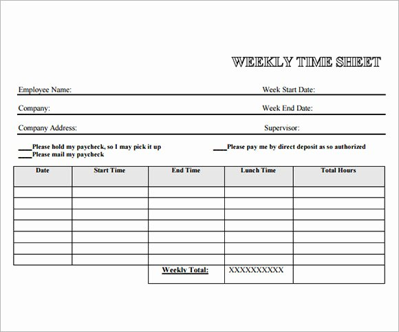 Daily Timesheet Template Free Printable Lovely Employee Timesheet Template 8 Free Download for Pdf