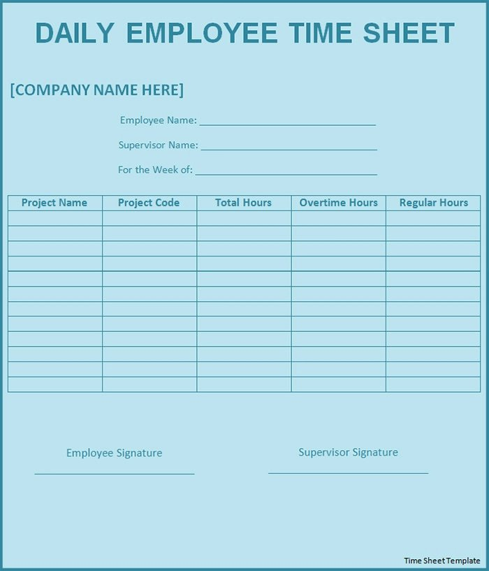 Daily Timesheet Template Free Printable Unique 60 Sample Timesheet Templates Pdf Doc Excel
