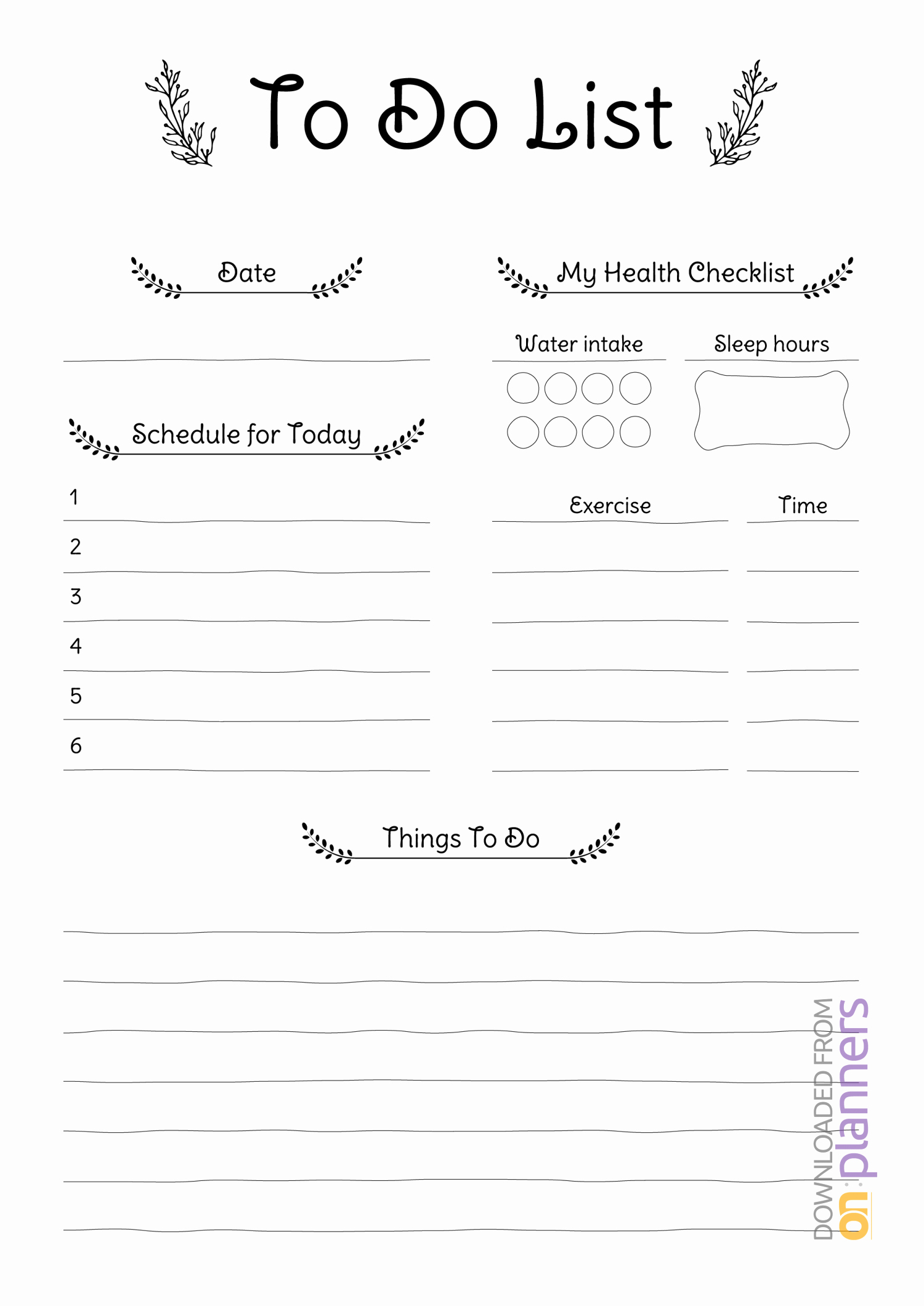 Daily to Do List Template Elegant Free Printable Daily to Do List Pdf Download