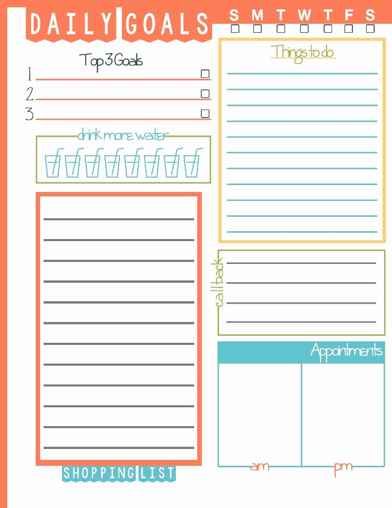 Daily to Do List Template Fresh Daily Goals Plan Your Life Printable Domestic Mommyhood