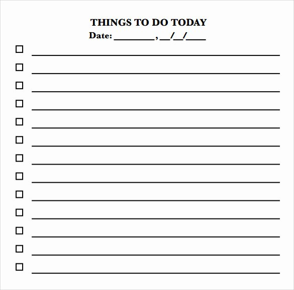 Daily to Do List Template Fresh Sample to Do Checklist 11 Documents In Pdf Wor