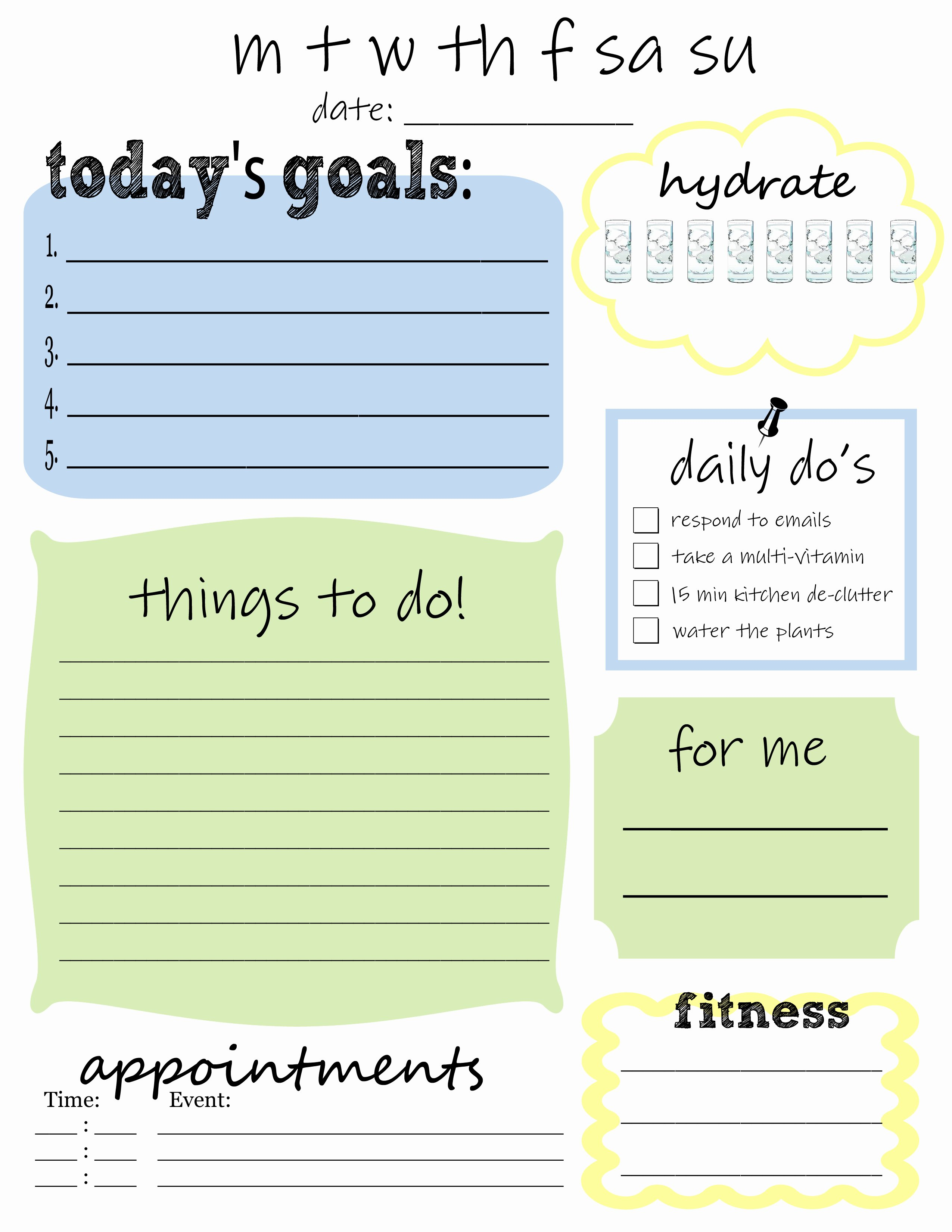 printables for organizing