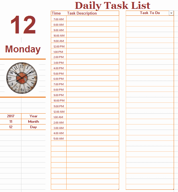 Daily to Do List Template Unique Daily to Do List Template