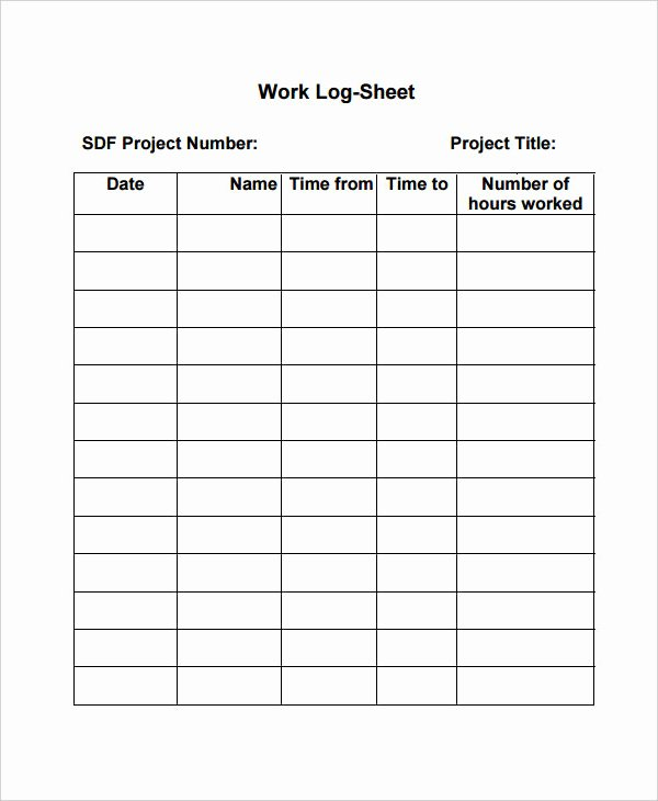 Daily Work Log Template Elegant Free Work Log Templates Daily Weekly Monthly