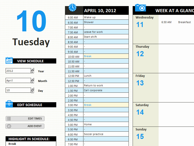 Daily Work Log Template Fresh Daily Work Schedule Templates Fice