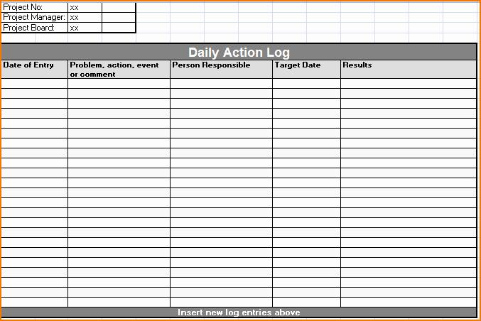 Daily Work Log Template Inspirational 5 Daily Work Log Template