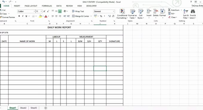 Daily Work Report Template Beautiful Daily Work Report Excel Sheet