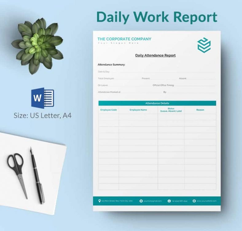 Daily Work Report Template Elegant Daily Report Template 62 Free Word Excel Pdf