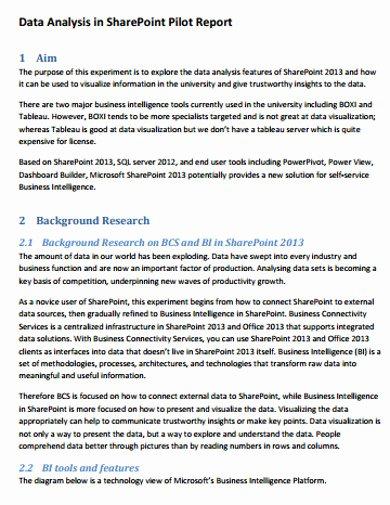 Data Analysis Report Template New 6 Data Analysis Report Templates Google Docs Word
