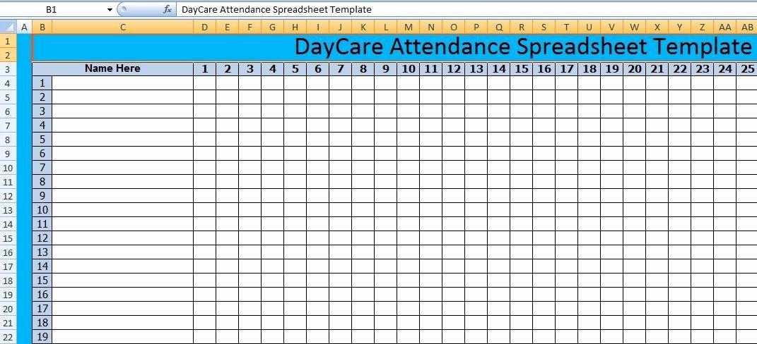 Daycare Staff Schedule Template Best Of Download Daycare attendance Spreadsheet Templates – Excel