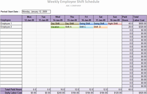 Daycare Staff Schedule Template Luxury Useful Ms Excel and Word Templates for Business Owners