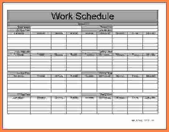 Daycare Staff Schedule Template Unique Employee Schedule Template Monthly – Printable Schedule
