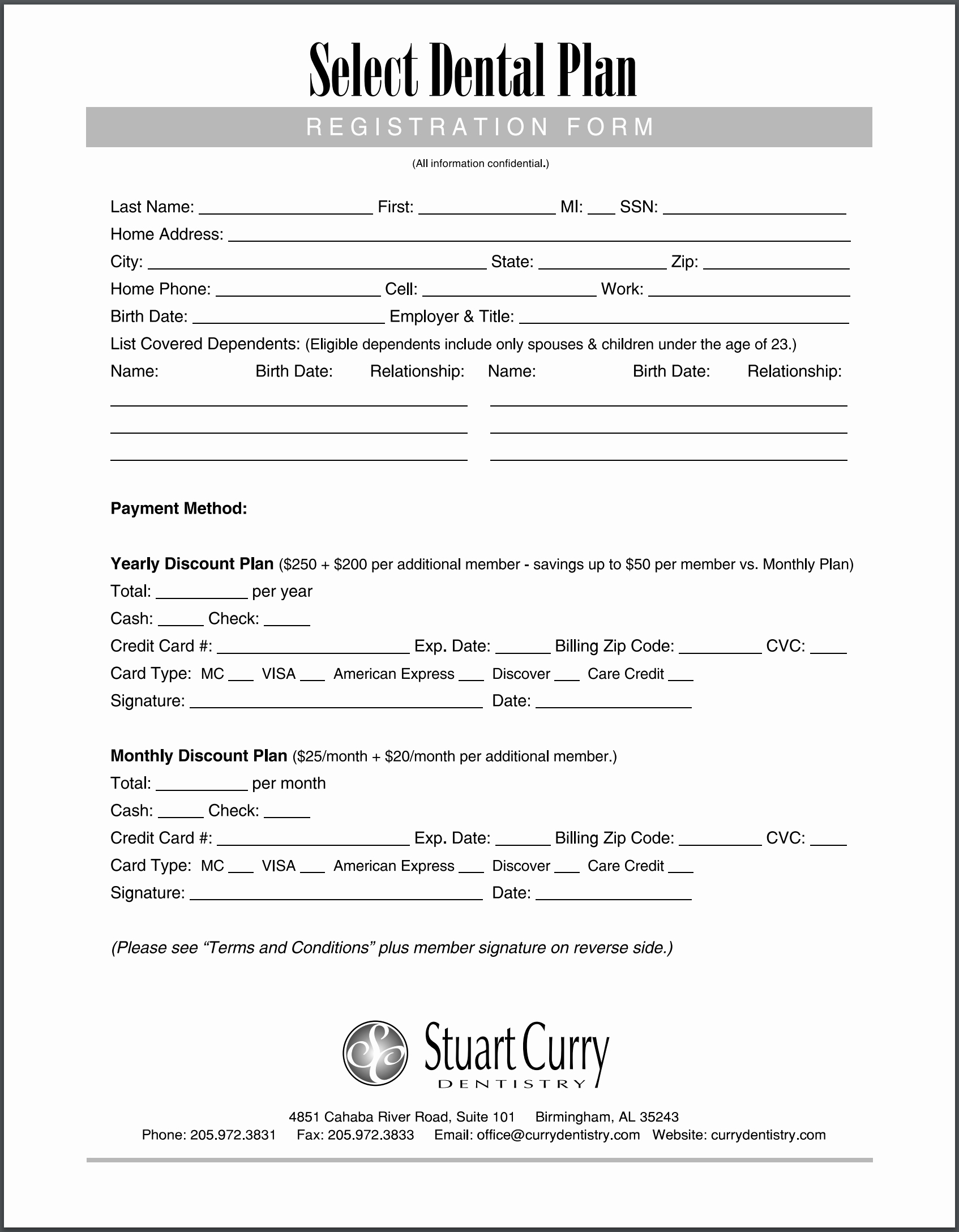 Dental Office forms Templates Luxury Stuart Curry Dental Plan Insurance form