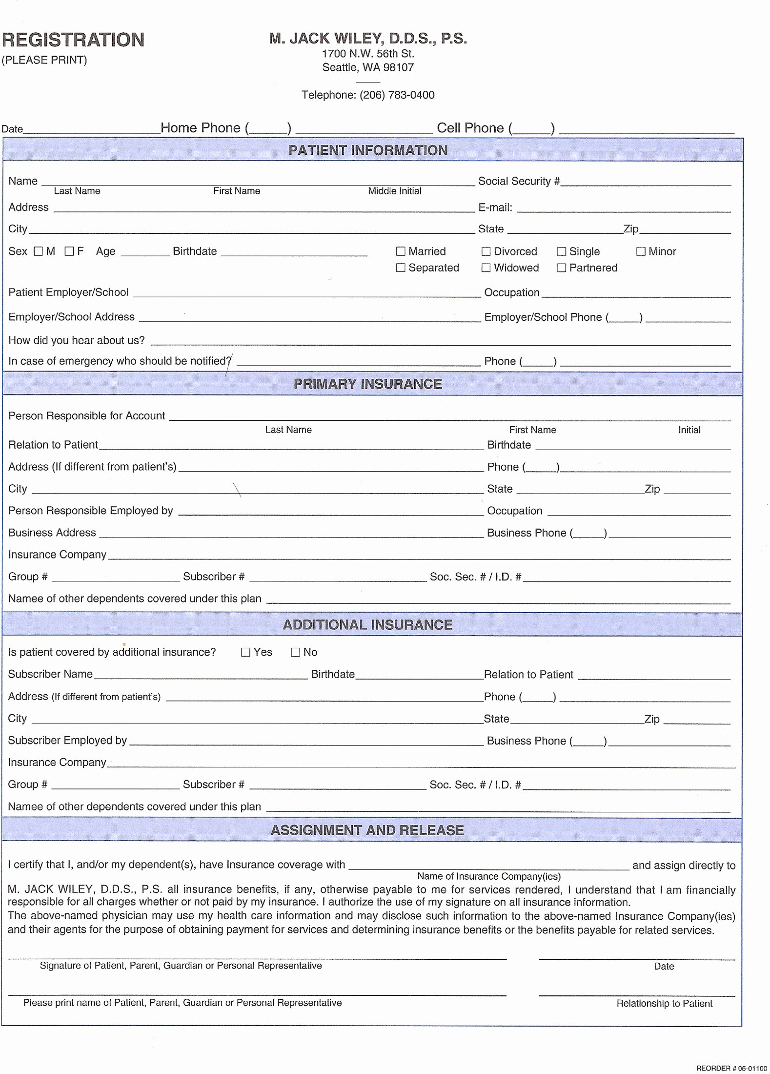 Dental Patient Registration form Template Beautiful 27 Of Dental New Patient forms Template