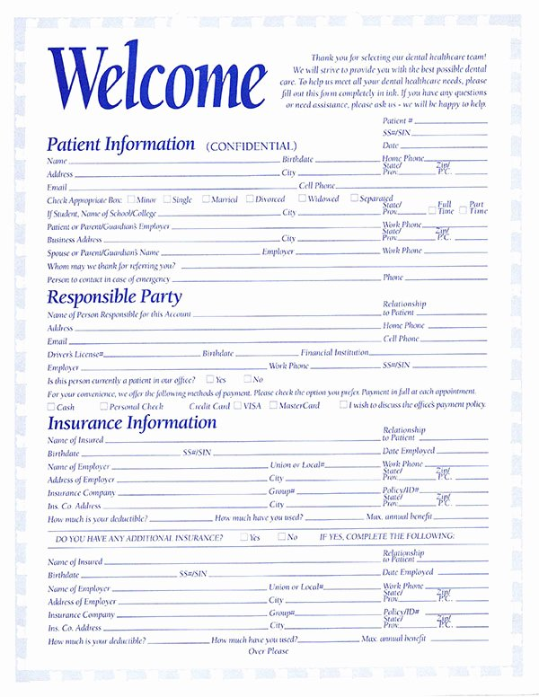 Dental Patient Registration form Template Beautiful 5 Things to Bring to Your First Dental Visit Peacock Dental