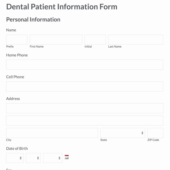 Dental Patient Registration form Template Elegant Patient Information form Template Pdfsdocnts X Fc2