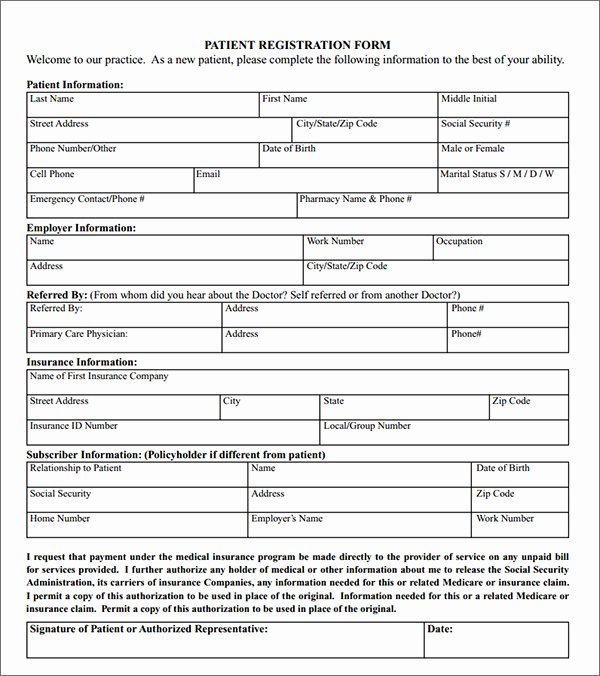 Dental Patient Registration form Template Unique New Patient Registration forms Movie Search Engine at