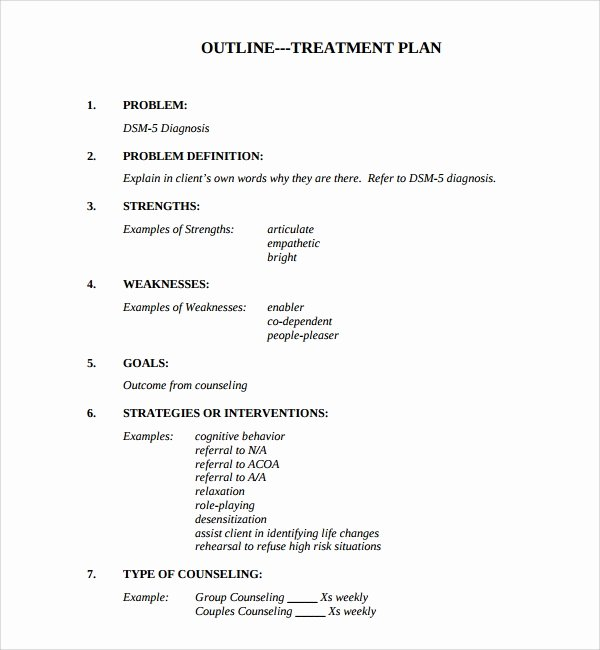 Dental Treatment Plan Template Lovely Sample Treatment Plan Template 9 Free Documents In Pdf