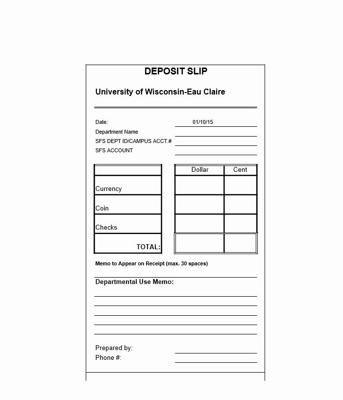Deposit Slip Template Word Elegant 14 Plus Deposit Slip Template & Sample Calypsotree