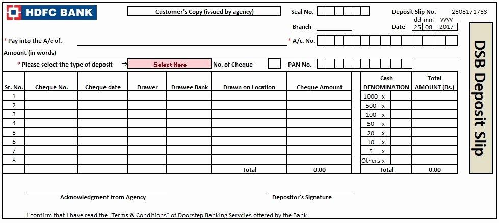 Deposit Slip Template Word Elegant Bank Deposit Slip Template Excel Word and Pdf