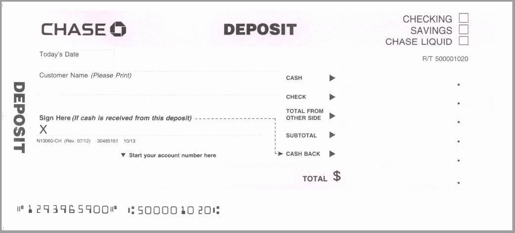 Deposit Slip Template Word Unique Free Printable Bank Deposit Slip Template