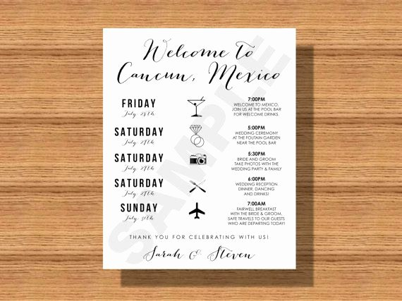 Destination Wedding Itinerary Template Awesome 1000 Ideas About Destination Wedding Itinerary On