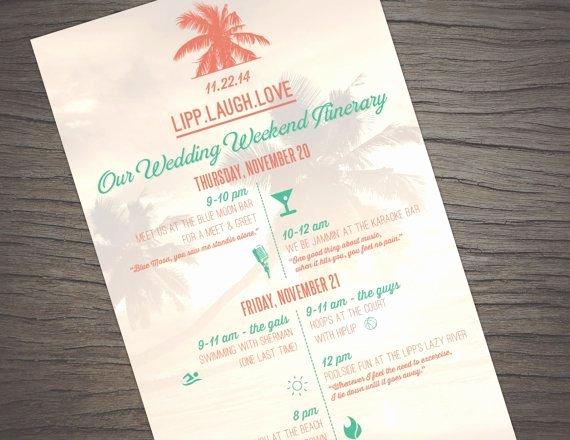 Destination Wedding Itinerary Template Beautiful Best 25 Destination Wedding Itinerary Ideas On Pinterest