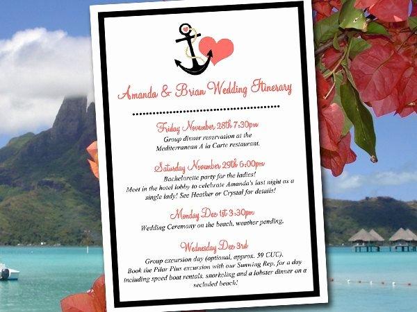 Destination Wedding Itinerary Template Fresh Best 25 Wedding Itinerary Template Ideas On Pinterest