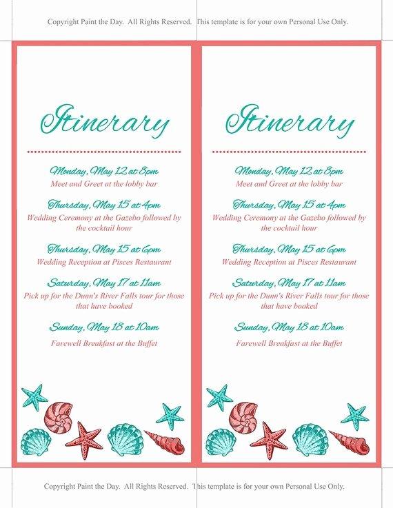 Destination Wedding Itinerary Template Inspirational 17 Best Ideas About Wedding Itinerary Template On
