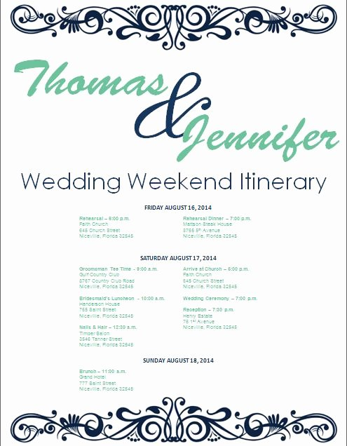 Destination Wedding Itinerary Template Lovely 17 Best Ideas About Wedding Weekend Itinerary On Pinterest