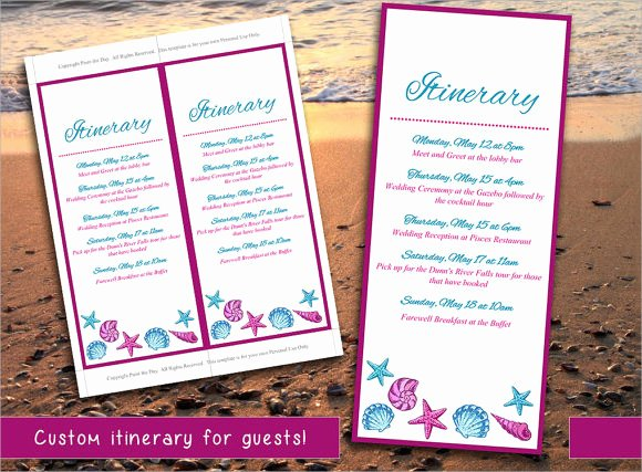 Destination Wedding Itinerary Template Lovely Free 7 Wedding Itinerary Samples In Pdf Psd